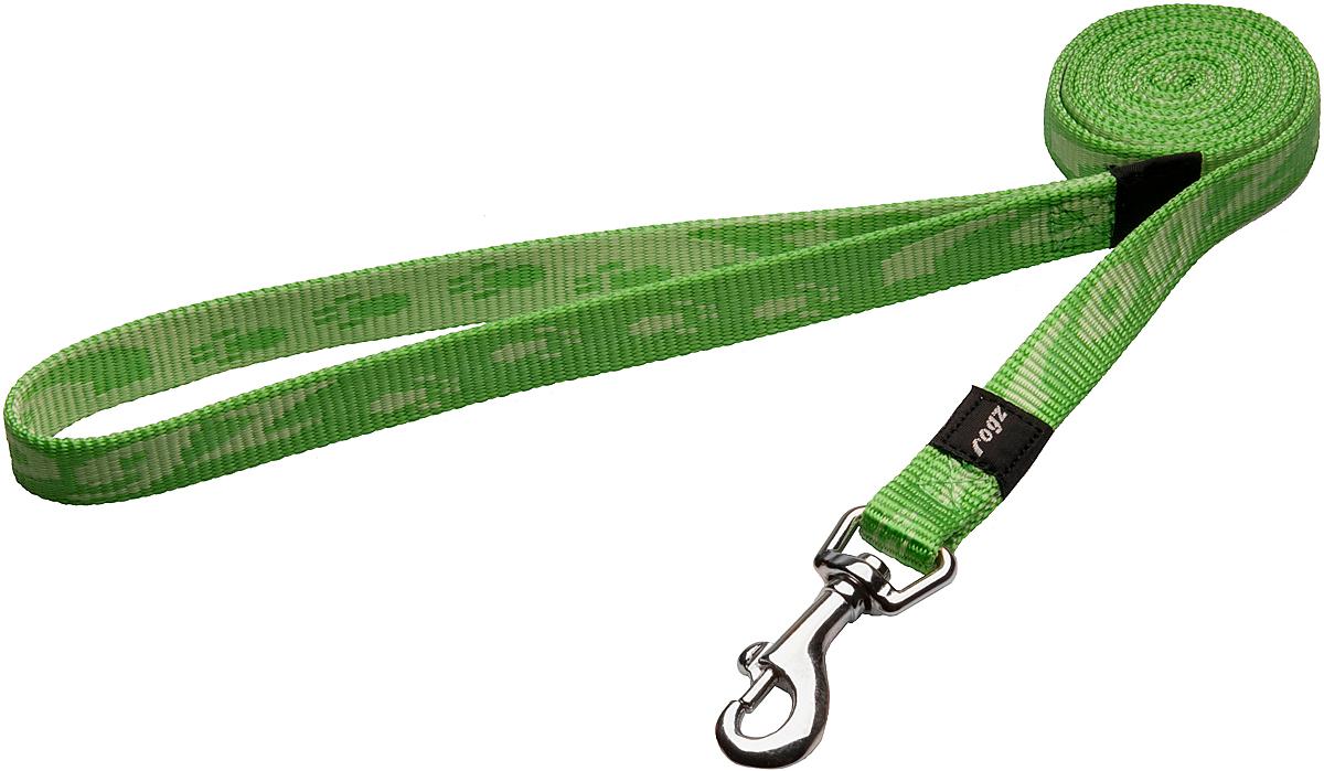 Поводок для собак Rogz Alpinist, цвет: зеленый, ширина 1,6 см. Размер M0120710Поводок для собак Rogz Alpinist изготовлен из нейлона и снабжен металлическим карабином. Особо мягкая, но очень прочная лента обеспечит безопасность на прогулке даже самым активным собакам.Все соединения деталей имеют специальную дополнительную строчку для большей прочности. Выполненные специально по заказу Rogz литые кольца гальванически хромированы, что позволяет избежать коррозии и потускнения изделия.