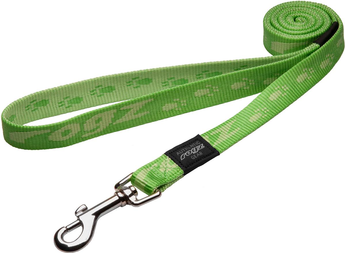 Поводок для собак Rogz Alpinist, цвет: зеленый, ширина 2 см. Размер L0120710Особо мягкая, но очень прочная лента обеспечит безопасность на прогулке даже самым активным собакам.Все соединения деталей имеют специальную дополнительную строчку для большей прочности.Выполненые специально по заказу ROGZ литые кольца гальванически хромированы, что позволяет избежать коррозии и потускнения изделия. Полотно: нейлоновая тесьма. Пряжки: ацетиловый пластик. Кольца: цинковое литье.