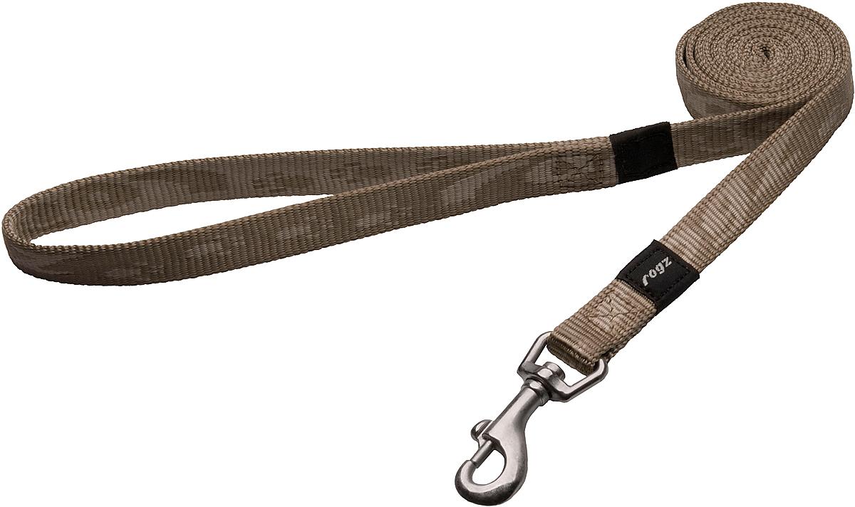 Поводок для собак Rogz Alpinist, цвет: золотистый, ширина 1,6 см. Размер M0120710Поводок для собак Rogz Alpinist изготовлен из нейлона и снабжен металлическим карабином. Особо мягкая, но очень прочная лента обеспечит безопасность на прогулке даже самым активным собакам.Все соединения деталей имеют специальную дополнительную строчку для большей прочности. Выполненные специально по заказу Rogz литые кольца гальванически хромированы, что позволяет избежать коррозии и потускнения изделия.
