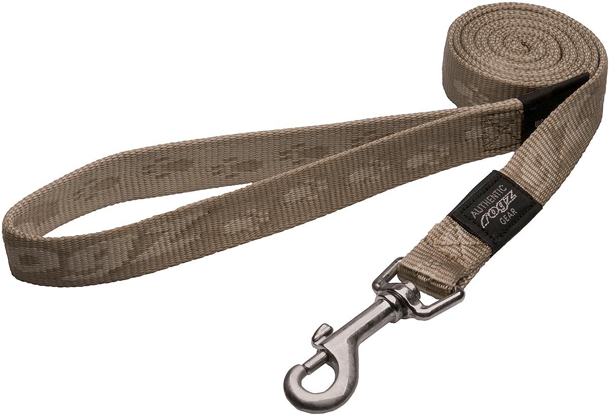 Поводок для собак Rogz Alpinist, цвет: золотистый, ширина 2 см. Размер LHL25MПоводок для собак Rogz Alpinist изготовлен из нейлона и снабжен металлическим карабином. Особо мягкая, но очень прочная лента обеспечит безопасность на прогулке даже самым активным собакам.Все соединения деталей имеют специальную дополнительную строчку для большей прочности. Выполненные специально по заказу Rogz литые кольца гальванически хромированы, что позволяет избежать коррозии и потускнения изделия.