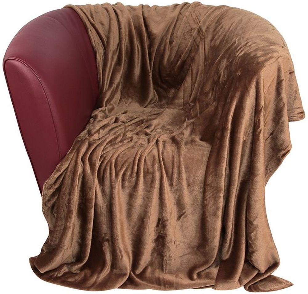 Плед EL Casa, цвет: коричневый, 150 х 200 смES-412Уютный, легкий и прочный плед в оригинальном дизайне послужит украшением декора вашей комнаты и согреет вас и ваших близких. Устойчив к истиранию и скатыванию, не мнется, не деформируется, сохранит первоначальный вид даже при активном использовании и многочисленных стирках. Такой плед идеален в качестве подарка на любой праздник. Изделие в подарочной сумке с ручками.