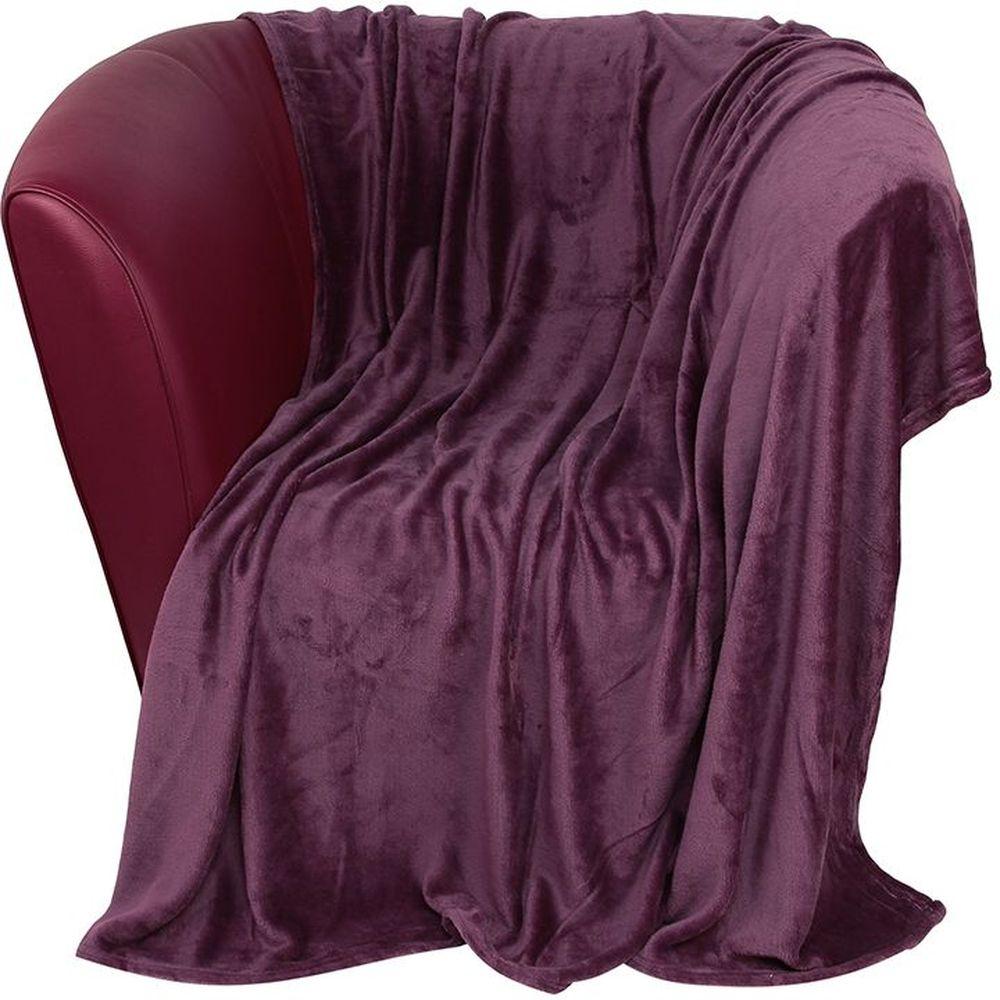 Плед EL Casa, цвет: фиолетовый, 200 х 230 смES-412Уютный, легкий и прочный плед в оригинальном дизайне послужит украшением декора вашей комнаты и согреет вас и ваших близких. Устойчив к истиранию и скатыванию, не мнется, не деформируется, сохранит первоначальный вид даже при активном использовании и многочисленных стирках. Такой плед идеален в качестве подарка на любой праздник. Изделие в подарочной сумке с ручками.
