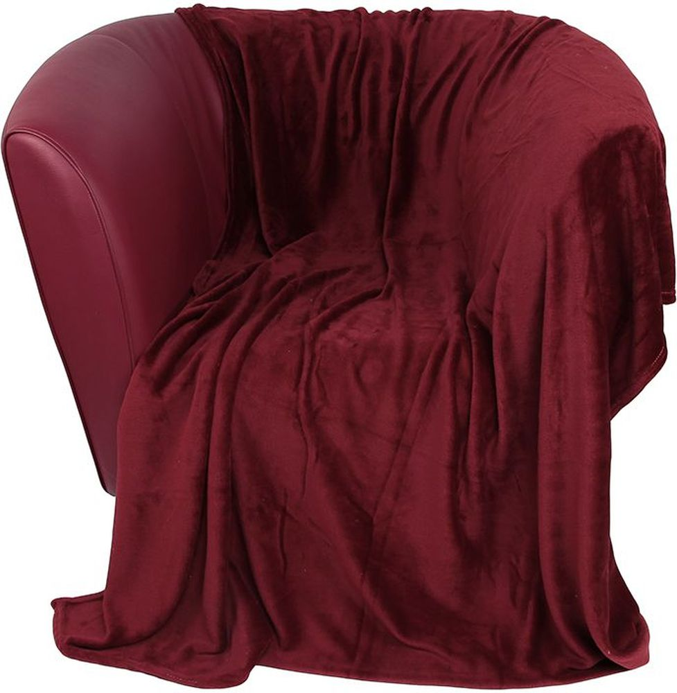 Плед EL Casa, цвет: бордовый, 200 х 230 смWUB 5647 weisУютный, легкий и прочный плед в оригинальном дизайне послужит украшением декора вашей комнаты и согреет вас и ваших близких. Устойчив к истиранию и скатыванию, не мнется, не деформируется, сохранит первоначальный вид даже при активном использовании и многочисленных стирках. Такой плед идеален в качестве подарка на любой праздник. Изделие в подарочной сумке с ручками.