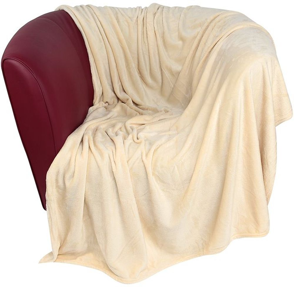 Плед EL Casa, цвет: бежевый, 200 х 230 смU110DFУютный, легкий и прочный плед в оригинальном дизайне послужит украшением декора вашей комнаты и согреет вас и ваших близких. Устойчив к истиранию и скатыванию, не мнется, не деформируется, сохранит первоначальный вид даже при активном использовании и многочисленных стирках. Такой плед идеален в качестве подарка на любой праздник. Изделие в подарочной сумке с ручками.