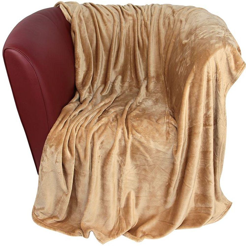 Плед EL Casa, цвет: карамельный, 200 х 230 см16056Уютный, легкий и прочный плед в оригинальном дизайне послужит украшением декора вашей комнаты и согреет вас и ваших близких. Устойчив к истиранию и скатыванию, не мнется, не деформируется, сохранит первоначальный вид даже при активном использовании и многочисленных стирках. Такой плед идеален в качестве подарка на любой праздник. Изделие в подарочной сумке с ручками.