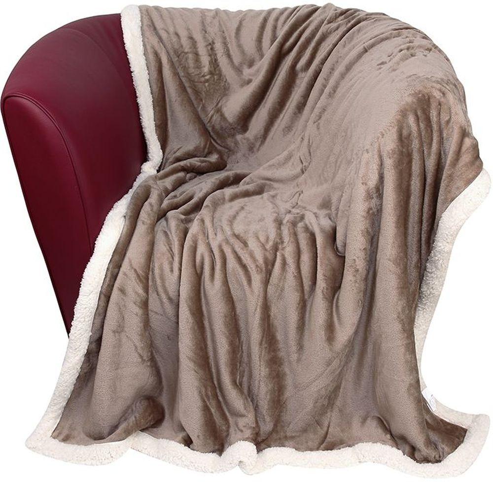 Плед EL Casa Помпоны, цвет: кофе с молоком, 150 х 200 см1004900000360Уютный, легкий, и прочный плед в оригинальном дизайне послужит украшением декора вашей комнаты и согреет вас и ваших близких. Одна сторона-гладкая, вторая сторона - под Овчину. Устойчив к истиранию и скатыванию, не мнется, не деформируется, сохранит первоначальный вид даже при активном использовании и многочисленных стирках. Такой плед идеален в качестве подарка на любой праздник. Изделие в подарочной сумке с ручками.