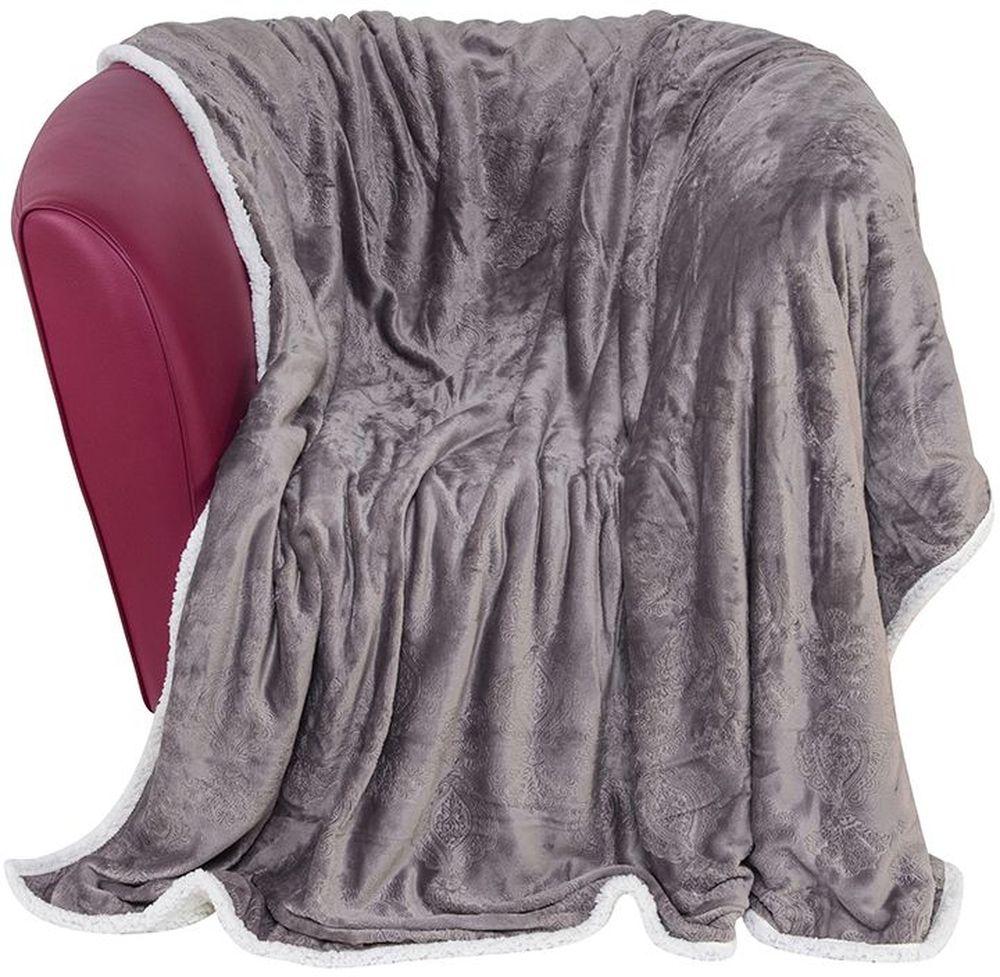 Плед EL Casa Узор, цвет: серый, белый, 150 х 200 смES-412Уютный, легкий и прочный плед в оригинальном дизайне послужит украшением декора вашей комнаты и согреет вас и ваших близких. Устойчив к истиранию и скатыванию, не мнется, не деформируется, сохранит первоначальный вид даже при активном использовании и многочисленных стирках. Такой плед идеален в качестве подарка на любой праздник.