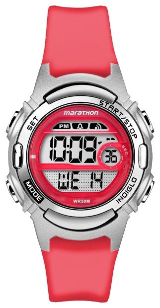 Наручные часы женские Timex Marathon, цвет: коралловый. TW5M11300BP-001 BKКорпус 33,5 мм серебр. цв. из закаленной резины; электронный циферблат; хезалитовое стекло; будильник ежедневый; секундомер с памятью на 30 кругов/подходов; таймер обратного отсчета; подсветка INDIGLO с ночным режимом; водозащита 5 ATM