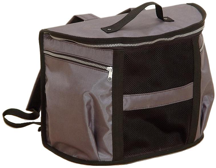 Рюкзак-переноска для животных Заря-плюс, 37 х 19 х 29 см0120710Рюкзак–переноска для кошек в виде сумки полукруглой формы с плоской спинкой имеет два наплечных ремня, что делает его похожим по своим эксплуатационным свойствам на настоящий туристический рюкзак. А какое главное преимущество рюкзака? В том, что он позволяет переносить ношу, оставляя обе руки свободными! Вот и в случае с нашим рюкзаком–переноской имеет место это главное преимущество. При поездке на дачу, на пикник, в поход, на рыбалку, да куда угодно, он позволит Вам взять с собой не только необходимые вещи и снаряжение, но и Вашего любимца. Рюкзак–переноска имеет пластиковые элементы во всех своих составных частях. В передней части расположены два вместительных кармана, а между ними сетчатое окно.