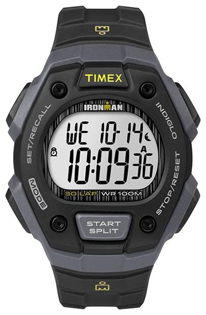 Наручные часы Timex Ironman, цвет: черный. TW5M09500BM8434-58AEНаручные электронные часы Timex Ironman выполнены из высококачественных материалов. Корпус шириной 42 мм из закаленной резины оформлен широким ремешком, укомплектован надежным механизмом и хезалитовым стеклом. Модель дополнена будильником, секундомером с памятью на 30 кругов/подходов, таймером обратного отсчета, подсветкой INDIGLO с ночным режимом, водозащитой 10 ATM.