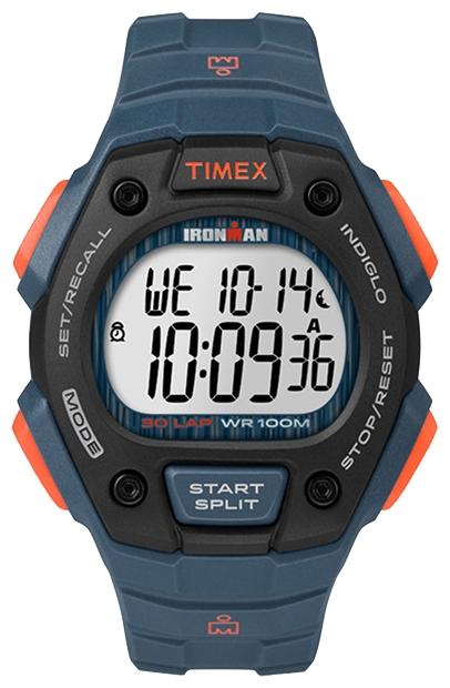Наручные часы Timex Ironman, цвет: синий. TW5M09600BP-001 BKКорпус 42 мм черн. цв.из закаленной резины; электронный циферблат; хезалитовое стекло; будильник; секундомер с памятью на 30 кругов/подходов; таймер обратного отсчета; подсветка INDIGLO с ночным режимом; водозащита 10 ATM