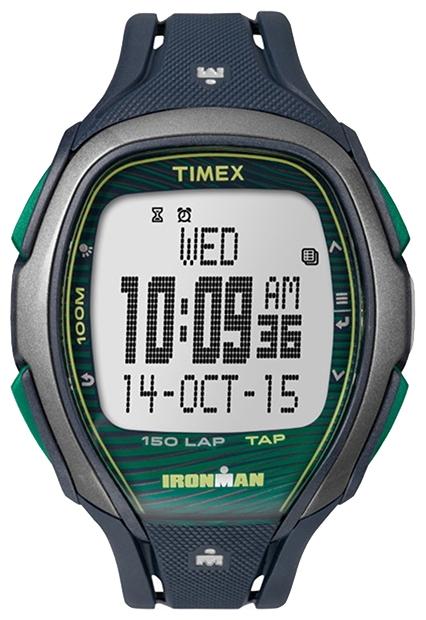 Наручные часы Timex Ironman, цвет: синий. TW5M09800BM8434-58AEНаручные электронные часы Timex Ironman выполнены из высококачественных материалов. Корпус шириной 46 мм из закаленной резины оформлен широким ремешком, укомплектован надежным механизмом и хезалитовым стеклом. Модель дополнена сенсорной технологией Tap Screen, 3 будильниками, 2 часовыми поясами, секундомером, памятью на 150 кругов, интервальным таймером, напоминанием о приеме воды, подсветкой INDIGLO, водозащитой 10 ATM.
