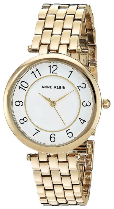 Часы наручные женские Anne Klein, цвет: золотистый, белый. 2700WTGBBM8434-58AEЖенские часы Anne Klein являются дизайнерским чудом. Уникальный высокоточный кварцевый механизм побеспокоится о том, чтобы его владелица никогда и никуда не опаздывала. Корпус изделия изготовлен из нержавеющей стали, для которой не страшна коррозия, так как в состав сплава входит специальное вещество. Часы оснащены широким гибким браслетом, круглый циферблат оформлен арабскими цифрами. Наручные часы выполнены с плоским минеральным стеклом, устойчивым к царапинам. Женские часы Anne Klein станут идеальным дополнением вашего стиля.