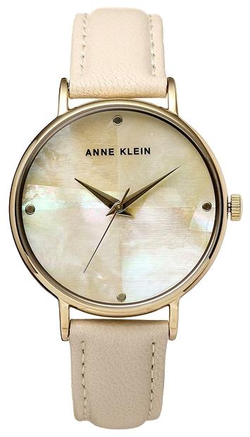 Наручные часы женские Anne Klein Watches, цвет: бежевый, золотистый. 2790IMIVEQW-M710DB-1A1Корпус: металлический с желтым ПВД-покрытием; диаметр: 36мм; Браслет: натуральная кожа, цвет: пудровый, Стекло: минеральное, Циферблат: перламутр кремовый с индексами; Механизм: кварцевый. Водозащиты нет.