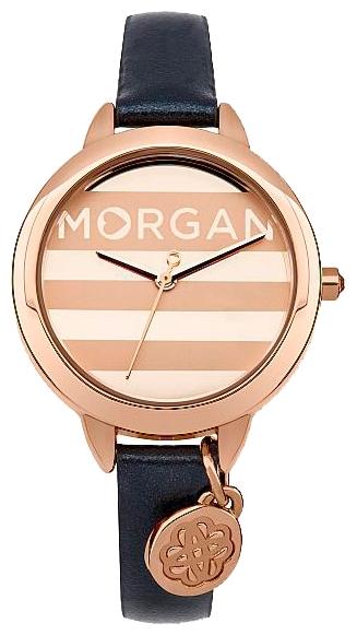 Наручные часы женские Morgan Watches, цвет: светло-розовый, синий. M1237URGBM8434-58AE3-стрелочный механизм PC21; IP Rose Gold-покрытие; Размер корпуса 31 мм; Минеральное стекло; Глянцевые и сатиновые полосы цвета розового золота ; Украшены кристаллами; Перламутровый ремешок; Водозащита 3 ATM