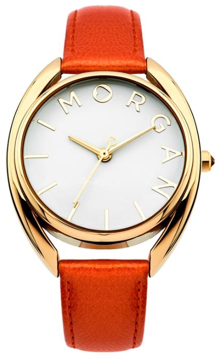 Часы наручные женские Morgan, цвет: золотистый, коралловый. M1246COGBM8434-58AEЧасы Morgan - яркий и оригинальный аксессуар для современных женщин. Часы оснащены удобным ремешком из качественной натуральной кожи. Круглый глянцевый циферблат оформлен оригинальной надписью с названием бренда и отметками вместо цифр. Кварцевые часы выполнены с плоским стеклом, устойчивым к царапинам и бесшумным механизмом. Водозащита: 3 АТМ.