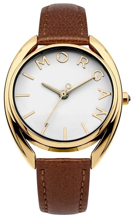 Наручные часы женские Morgan Watches, цвет: Золотистый , коричневый. M1246TGBM8241-01EE3-стрелочный механизм PC21; IP Gold-покрытие; Размер корпуса 31 мм; Минеральное стекло; Глянцевый белый циферблат; Чешские кристаллы; Перламутровый ремешок коричневого цвета из натуральной кожи; Водозащита 3 ATM