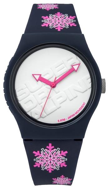 Часы наручные женские Superdry Watches, цвет: белый, синий. SYG165UPBM8434-58AEЖенские наручные часы Superdry Watches оснащены японским кварцевым механизмом PC21 с часовой, минутной и секундной стрелками. Темно-синий силиконовый ремешок дополнен флуоресцентными розовыми узорами. Корпус изготовлен из пластика. Наручные часы Superdry Watches созданы для современных людей, которые стремятся выделиться из толпы и подчеркнуть свою индивидуальность.