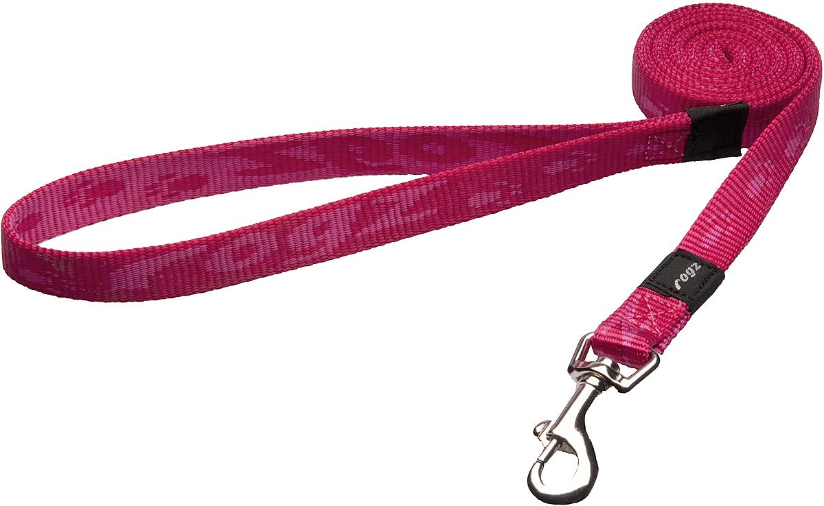 Поводок для собак Rogz Alpinist, цвет: розовый, ширина 1,6 см. Размер M0120710Поводок для собак Rogz Alpinist изготовлен из нейлона и снабжен металлическим карабином. Особо мягкая, но очень прочная лента обеспечит безопасность на прогулке даже самым активным собакам.Все соединения деталей имеют специальную дополнительную строчку для большей прочности. Выполненные специально по заказу Rogz литые кольца гальванически хромированы, что позволяет избежать коррозии и потускнения изделия.