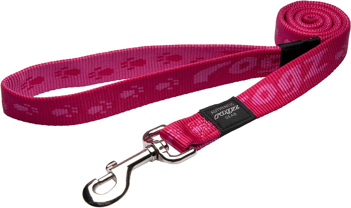 Поводок для собак Rogz Alpinist, цвет: розовый, ширина 2,5 см, длина 120 см. Размер XL0120710Поводок для собак Rogz Alpinist, изготовленный из нейлоновой тесьмы, снабжен металлическим карабином. Все соединения деталей имеют специальную дополнительную строчку для большей прочности. Выполненные специально по заказу ROGZ литые кольца гальванически хромированы, что позволяет избежать коррозии и потускнения изделия.Длина поводка ( с учетом кольца): 120 см.Ширина поводка: 2,5 см.