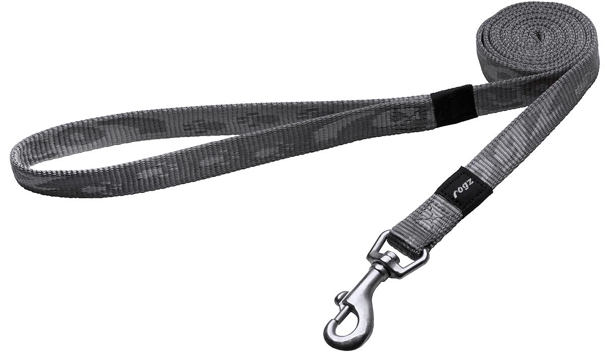 Поводок для собак Rogz Alpinist, цвет: серый, ширина 1,6 см. Размер M0120710Поводок для собак Rogz Alpinist изготовлен из нейлона и снабжен металлическим карабином. Особо мягкая, но очень прочная лента обеспечит безопасность на прогулке даже самым активным собакам.Все соединения деталей имеют специальную дополнительную строчку для большей прочности. Выполненные специально по заказу Rogz литые кольца гальванически хромированы, что позволяет избежать коррозии и потускнения изделия.