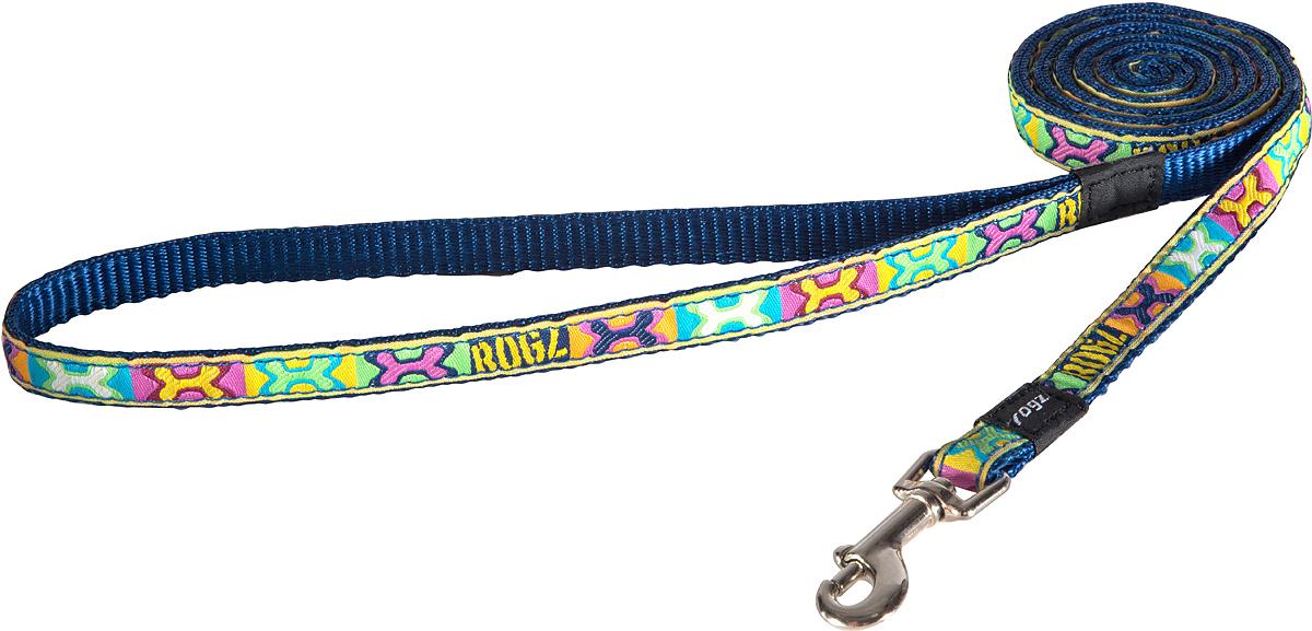 Поводок для собак Rogz Fancy Dress, цвет: коричневый, ширина 1,1 см0120710Поводок для собак Rogz Fancy Dress с потрясающе красивым орнаментом на прочной тесьме поверх нейлоновой ленты украсит вашего питомца.Необыкновенно крепкий и прочный поводок.Выполненные по заказу литые кольца выдерживают значительные физические нагрузки и имеют хромирование, нанесенное гальваническим способом, что позволяет избежать коррозии и потускнения изделия.