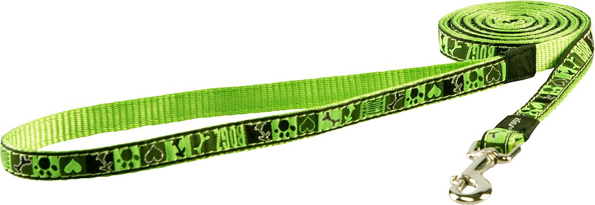 Поводок для собак Rogz Fancy Dress, цвет: серый, ширина 1,1 см0120710Поводок для собак Rogz Fancy Dress с потрясающе красивым орнаментом на прочной тесьме поверх нейлоновой ленты украсит вашего питомца.Необыкновенно крепкий и прочный поводок.Выполненные по заказу литые кольца выдерживают значительные физические нагрузки и имеют хромирование, нанесенное гальваническим способом, что позволяет избежать коррозии и потускнения изделия.