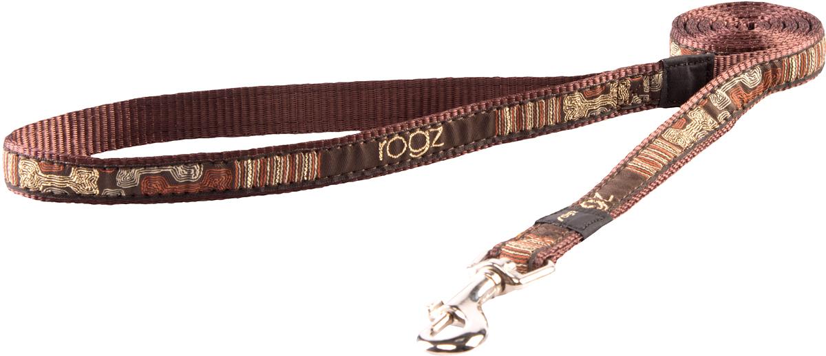Поводок для собак Rogz Fancy Dress, цвет: синий, ширина 1,6 смHL12CEПоводок для собак Rogz Fancy Dress с потрясающе красивым орнаментом на прочной тесьме поверх нейлоновой ленты украсит вашего питомца.Необыкновенно крепкий и прочный поводок.Выполненные по заказу литые кольца выдерживают значительные физические нагрузки и имеют хромирование, нанесенное гальваническим способом, что позволяет избежать коррозии и потускнения изделия.