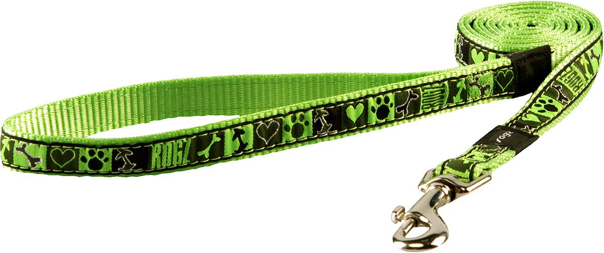 Поводок для собак Rogz Fancy Dress, цвет: серый, ширина 1,6 смHL12CFПоводок для собак Rogz Fancy Dress с потрясающе красивым орнаментом на прочной тесьме поверх нейлоновой ленты украсит вашего питомца.Необыкновенно крепкий и прочный поводок.Выполненные по заказу литые кольца выдерживают значительные физические нагрузки и имеют хромирование, нанесенное гальваническим способом, что позволяет избежать коррозии и потускнения изделия.
