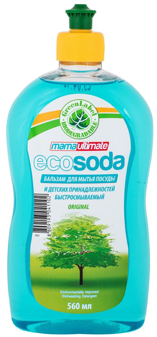 Бальзам для мытья посуды и детских принадлежностей EcoSoda Original, быстросмываемый, 560 мл06062Содержит мягкие очищающие компоненты, натуральную соду и минералы, которые легко удаляют жир даже в холодной воде. Масло миндаля и косметический глицерин обеспечивают смягчающий эффект для кожи рук.