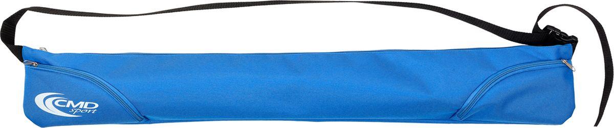 Чехол для палок для скандинавской ходьбы CMD Sport, цвет: синий, 90 см. CMD-bag-zipASS-02 S/MЧехол CMD Sport для телескопических палок на молнии с карманами для мелочей, куда вы можете убрать ключи, запасные резиновые башмаки или телефон. Чехол подойдет для двух- и трехсекционных палок. Чехол с палками удобно переносить на плече. На время ходьбы чехол можно зафиксировать на поясе в виде поясной сумки, карманы на молнии окажутся у вас под рукой.