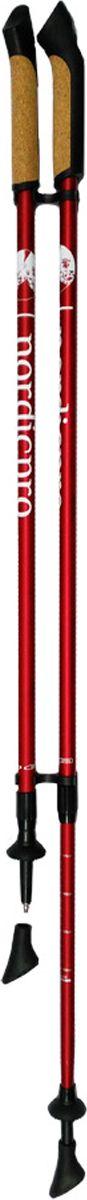 Палки для скандинавской ходьбы  NordicPro , телескопические, цвет: красный, L-XL, длина 80-135 см, 2 шт - Скандинавская ходьба