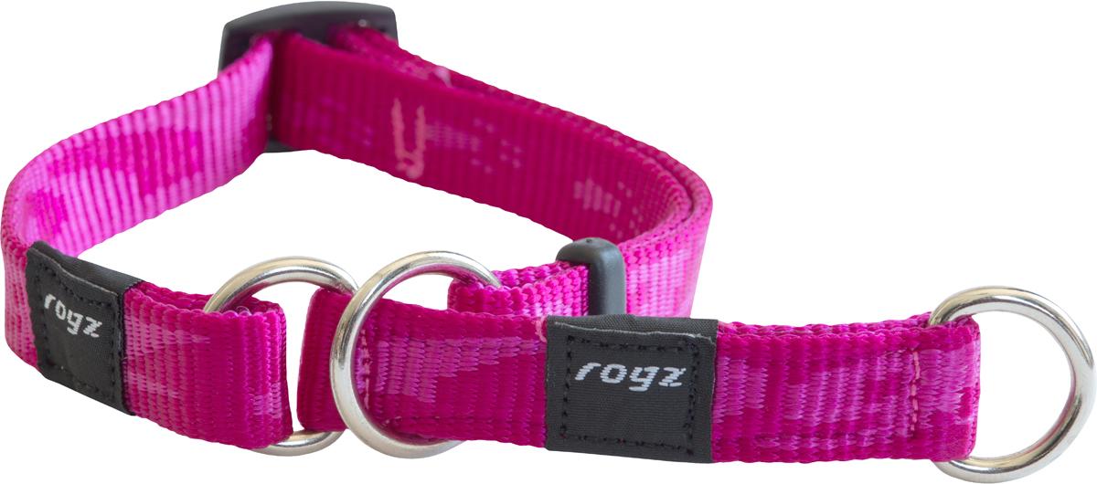 Полуудавка для собак Rogz Alpinist, цвет: розовый, ширина 1,6 см. Размер M0120710Ошейник-полуудавка Rogz Alpinist изготовлен из нейлона, металла и пластика. Высококачественные ленты Rogz мягкие в руках, но обладают высокой прочностью. Особое плетение полотна способствует увеличению уровня прочности и защиты. Специальная конструкция пряжки Rog Loc - очень крепкая (система Fort Knox). Замок может быть расстегнут только рукой человека. Технология распределения нагрузки позволяет снизить нагрузку на пряжки, изготовленные из титанового пластика, с помощью правильного и разумного расположения грузовых колец.Особые контурные пластиковые компоненты. Специальная округлая форма конструкции позволяет ошейнику комфортно облегать шею собаки.Выполненные специально по заказу Rogz литые кольца гальванически хромированы, что позволяет избежать коррозии и потускнения изделия.