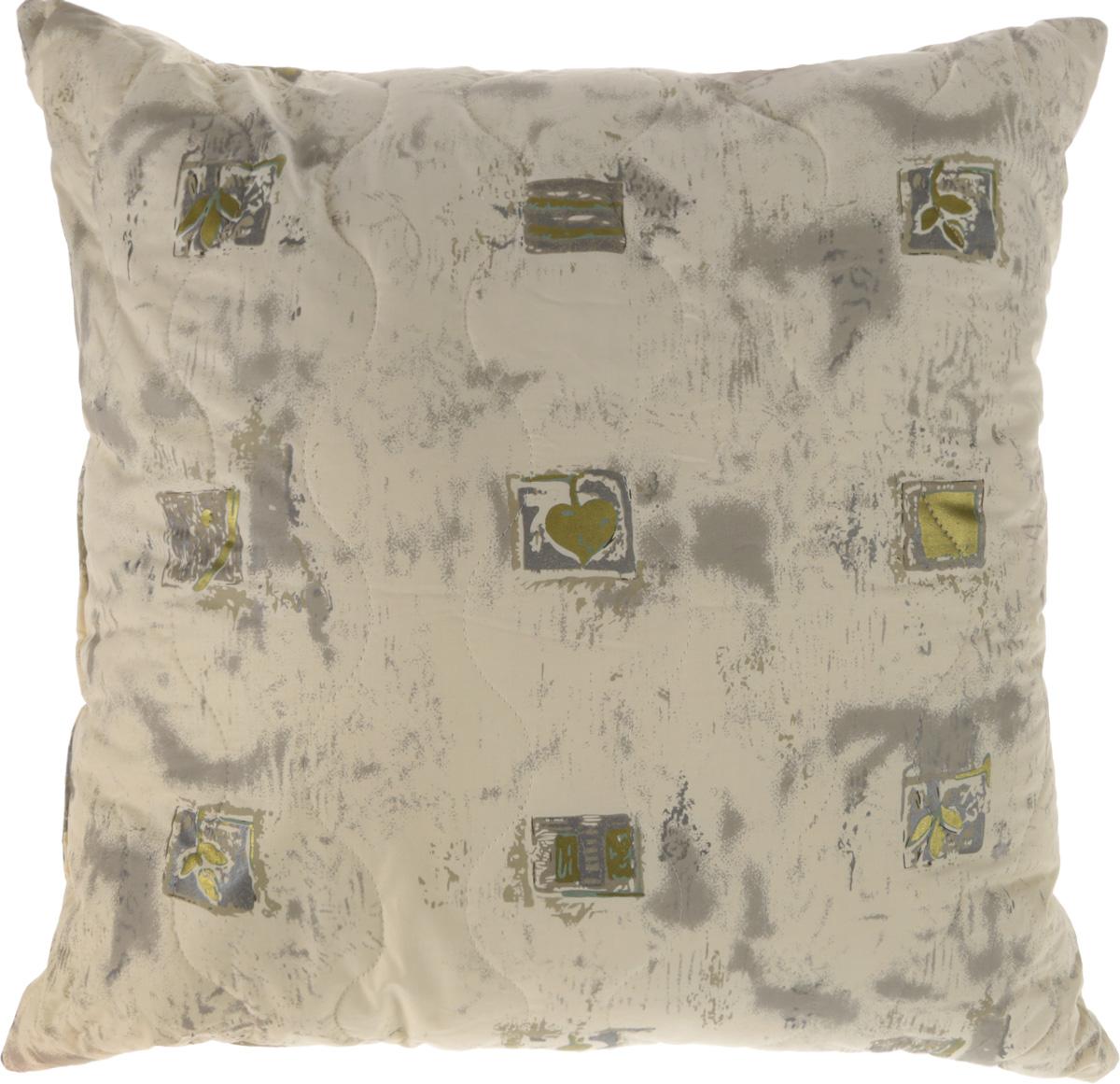 Подушка Ecotex Золотое руно, наполнитель: шерсть мериноса, лебяжий пух, 68 х 68 смU210DFПодушка Ecotex Золотое руно обеспечит здоровый сон и невероятный комфорт. Чехол подушки выполнен из натуральной тиковой ткани (100% хлопок). Внутри подушки микроволокно DownFill (100% полиэстер) - заменитель лебяжьего пуха. В качестве наполнителя чехла используется натуральная шерсть австралийских тонкорунных овец породы меринос. Шерсть австралийского мериноса - уникальный природный материал с высоким содержанием ланолина, благоприятно воздействующего на кожу. Изделие дарит оптимальный микроклимат во время сна: дарит сухое тепло, впитывая влагу и позволяя коже дышать. Уникальные лечебные свойства материала уменьшают стресс, стимулируют кровообращение, нормализуют давление. Подушка комфортна и практична, она невероятно мягкая и эластичная, а также антистатичная. Экологически чистый природный материал, высокие антибактериальные свойства и гипоаллергенность делают подушку идеальным вариантом для людей с чувствительной кожей. Наполнитель чехла: шерсть мериноса. Наполнитель подушки: микроволокно DownFill (Лебяжий пух, 100% полиэстер).