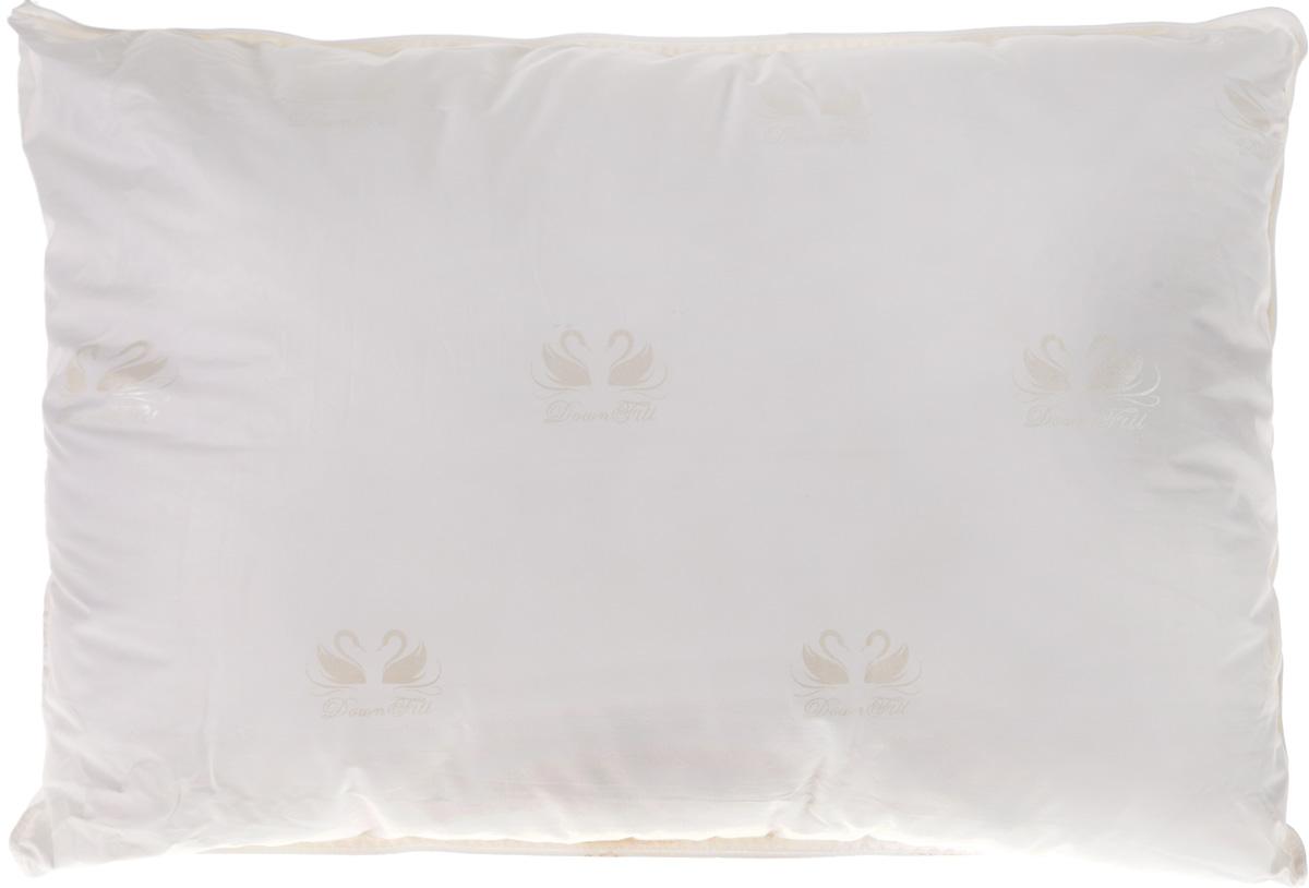 Подушка Ecotex Лебяжий пух, наполнитель: лебяжий пух, 50 х 70 смU210DFПодушка Ecotex Лебяжий пух предназначена для полноценного сна. Чехол подушки выполнен из перкаля - натуральной хлопковой ткани. В качестве наполнителя используется высокосиликонизированное микроволокно DownFill (100% полиэстер) - заменитель лебяжьего пуха. Подушка обладает отличной терморегуляцией, то есть дарит тепло, позволяя телу дышать, регулирует влажность и теплообмен. Экологически чистый природный материал, высокие антибактериальные свойства и гипоаллергенность делают подушку идеальным вариантом для людей с чувствительной кожей. Кроме того, подушка мягкая, легкая и эластичная. Легко стирается, быстро сохнет, сохраняя свои первоначальные свойства и форму даже после многократных стирок.