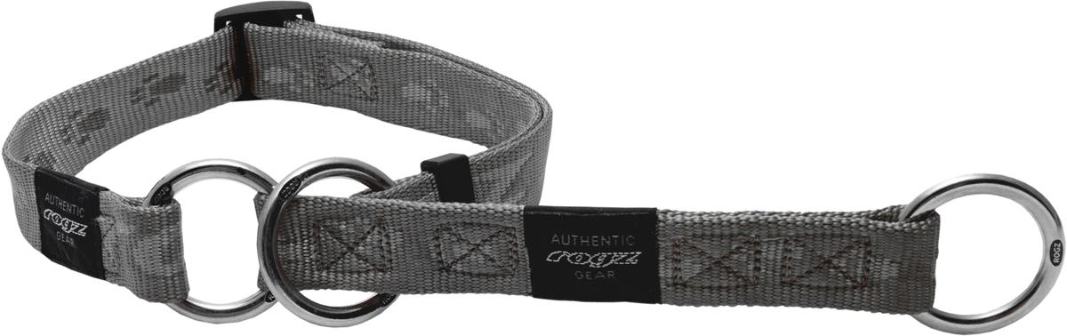 Полуудавка для собак Rogz Alpinist, цвет: серый, ширина 5 см. Размер LHBC25LОшейник-полуудавка Rogz Alpinist изготовлен из нейлона, металла и пластика. Высококачественные ленты Rogz мягкие в руках, но обладают высокой прочностью. Особое плетение полотна способствует увеличению уровня прочности и защиты. Специальная конструкция пряжки Rog Loc - очень крепкая (система Fort Knox). Замок может быть расстегнут только рукой человека. Технология распределения нагрузки позволяет снизить нагрузку на пряжки, изготовленные из титанового пластика, с помощью правильного и разумного расположения грузовых колец.Особые контурные пластиковые компоненты. Специальная округлая форма конструкции позволяет ошейнику комфортно облегать шею собаки.Выполненные специально по заказу Rogz литые кольца гальванически хромированы, что позволяет избежать коррозии и потускнения изделия.