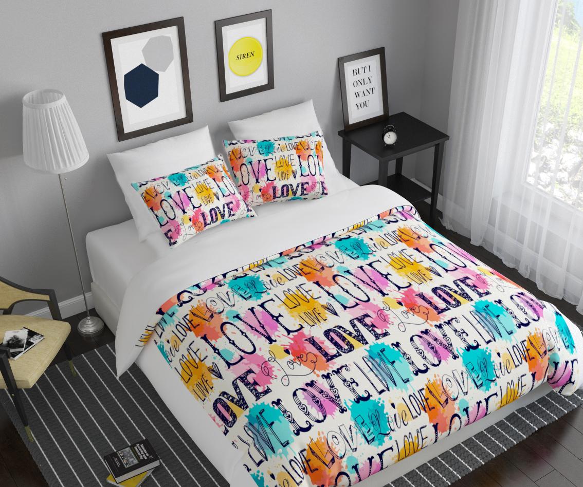 Комплект белья Сирень Любовь, 2-спальный, наволочки 50х70391602Комплект постельного белья Сирень 2-х спальный выполнен из прочной и мягкой ткани. Четкий и стильный рисунок в сочетании с насыщенными красками делают комплект постельного белья неповторимой изюминкой любого интерьера. Постельное белье идеально подойдет для подарка. Идеальное соотношение смешенной ткани и гипоаллергенных красок это гарантия здорового, спокойного сна. Ткань хорошо впитывает влагу, надолго сохраняет яркость красок. Цвет простыни, пододеяльника, наволочки в комплектации может немного отличаться от представленного на фото.В комплект входят: простыня - 200х220см; пододельяник 175х210 см; наволочка - 50х70х2шт. Постельное белье легко стирать при 30-40 градусах, гладить при 150 градусах, не отбеливать.Рекомендуется перед первым изпользованием постирать.