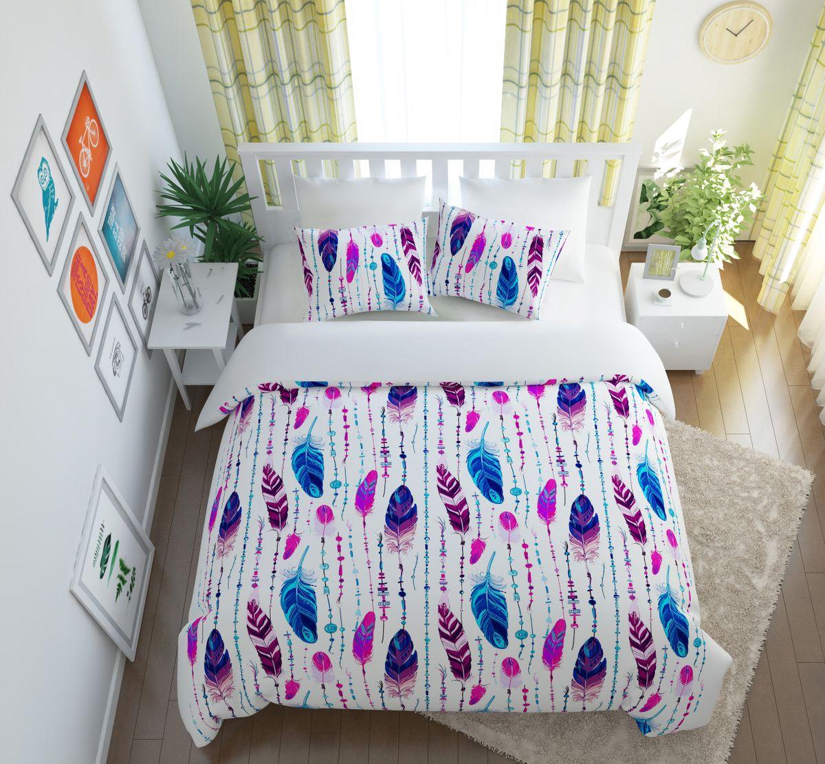 Комплект белья Сирень Перо Жар-птицы, 2-спальный, наволочки 50х70PANTERA SPX-2RSКомплект постельного белья Сирень выполнен из прочной и мягкой ткани. Четкий и стильный рисунок в сочетании с насыщенными красками делают комплект постельного белья неповторимой изюминкой любого интерьера.Постельное белье идеально подойдет для подарка. Идеальное соотношение смешенной ткани и гипоаллергенных красок - это гарантия здорового, спокойного сна. Ткань хорошо впитывает влагу, надолго сохраняет яркость красок.В комплект входят: простынь, пододеяльник, две наволочки. Постельное белье легко стирать при 30-40°С, гладить при 150°С, не отбеливать. Рекомендуется перед первым использованием постирать.УВАЖАЕМЫЕ КЛИЕНТЫ! Обращаем ваше внимание, что цвет простыни, пододеяльника, наволочки в комплектации может немного отличаться от представленного на фото.