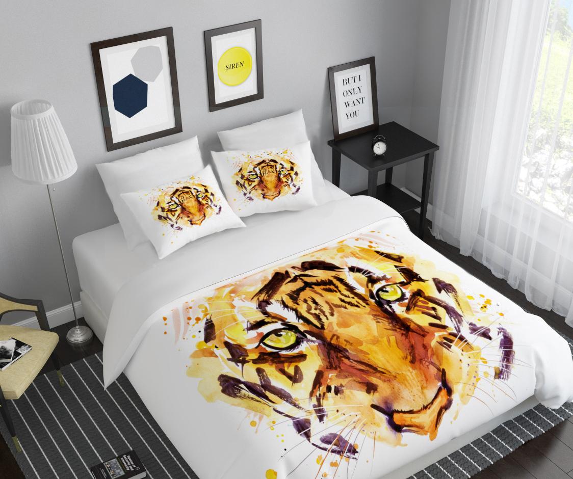 Комплект белья Сирень Взгляд хищника, 2-спальный, наволочки 50х7068/5/3Комплект постельного белья Сирень 2-х спальный выполнен из прочной и мягкой ткани. Четкий и стильный рисунок в сочетании с насыщенными красками делают комплект постельного белья неповторимой изюминкой любого интерьера. Постельное белье идеально подойдет для подарка. Идеальное соотношение смешенной ткани и гипоаллергенных красок это гарантия здорового, спокойного сна. Ткань хорошо впитывает влагу, надолго сохраняет яркость красок. Цвет простыни, пододеяльника, наволочки в комплектации может немного отличаться от представленного на фото.В комплект входят: простыня - 200х220см; пододельяник 175х210 см; наволочка - 50х70х2шт. Постельное белье легко стирать при 30-40 градусах, гладить при 150 градусах, не отбеливать.Рекомендуется перед первым изпользованием постирать.