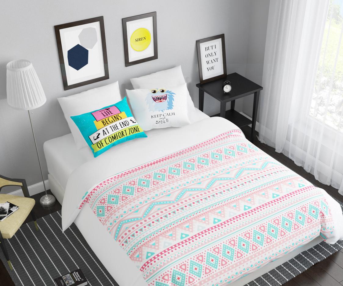 Комплект белья Сирень Монстр-smile, 2-спальный, наволочки 50х70814/CHAR008Комплект постельного белья Сирень выполнен из прочной и мягкой ткани. Четкий и стильный рисунок в сочетании с насыщенными красками делают комплект постельного белья неповторимой изюминкой любого интерьера.Постельное белье идеально подойдет для подарка. Идеальное соотношение смешенной ткани и гипоаллергенных красок - это гарантия здорового, спокойного сна. Ткань хорошо впитывает влагу, надолго сохраняет яркость красок.В комплект входят: простынь, пододеяльник, две наволочки. Постельное белье легко стирать при 30-40°С, гладить при 150°С, не отбеливать. Рекомендуется перед первым использованием постирать.УВАЖАЕМЫЕ КЛИЕНТЫ! Обращаем ваше внимание, что цвет простыни, пододеяльника, наволочки в комплектации может немного отличаться от представленного на фото.
