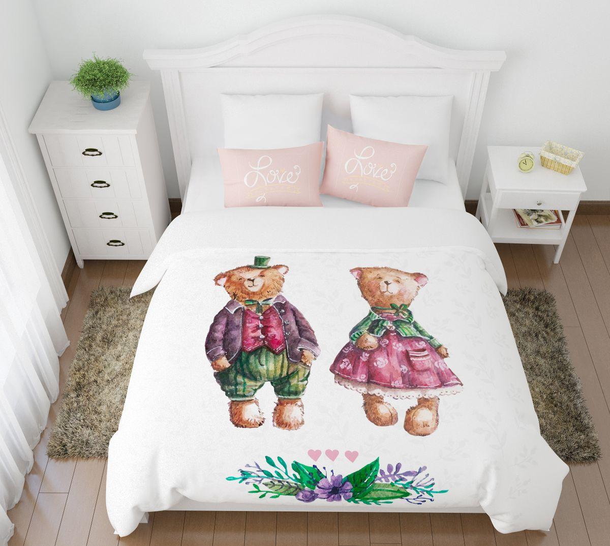 Комплект белья СиреньДуэт, 2-спальный, наволочки 50х70391602Комплект постельного белья Сирень 2-х спальный выполнен из прочной и мягкой ткани. Четкий и стильный рисунок в сочетании с насыщенными красками делают комплект постельного белья неповторимой изюминкой любого интерьера. Постельное белье идеально подойдет для подарка. Идеальное соотношение смешенной ткани и гипоаллергенных красок это гарантия здорового, спокойного сна. Ткань хорошо впитывает влагу, надолго сохраняет яркость красок. Цвет простыни, пододеяльника, наволочки в комплектации может немного отличаться от представленного на фото.В комплект входят: простыня - 200х220см; пододельяник 175х210 см; наволочка - 50х70х2шт. Постельное белье легко стирать при 30-40 градусах, гладить при 150 градусах, не отбеливать.Рекомендуется перед первым изпользованием постирать.