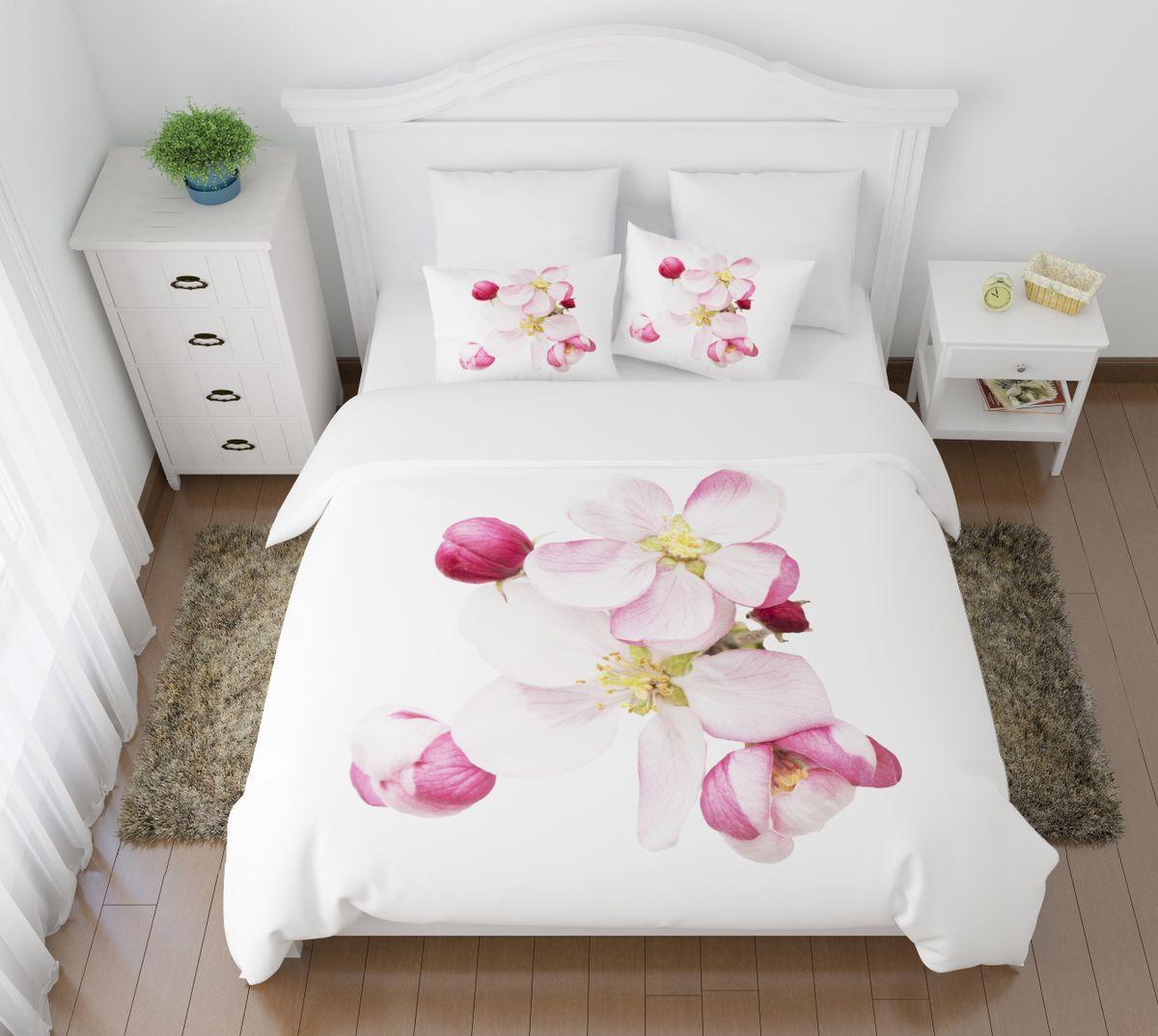 Комплект белья Сирень Распустившиеся цветы, 2-спальный, наволочки 50х70U210DFКомплект постельного белья Сирень 2-х спальный выполнен из прочной и мягкой ткани. Четкий и стильный рисунок в сочетании с насыщенными красками делают комплект постельного белья неповторимой изюминкой любого интерьера. Постельное белье идеально подойдет для подарка. Идеальное соотношение смешенной ткани и гипоаллергенных красок это гарантия здорового, спокойного сна. Ткань хорошо впитывает влагу, надолго сохраняет яркость красок. Цвет простыни, пододеяльника, наволочки в комплектации может немного отличаться от представленного на фото.В комплект входят: простыня - 200х220см; пододельяник 175х210 см; наволочка - 50х70х2шт. Постельное белье легко стирать при 30-40 градусах, гладить при 150 градусах, не отбеливать.Рекомендуется перед первым изпользованием постирать.
