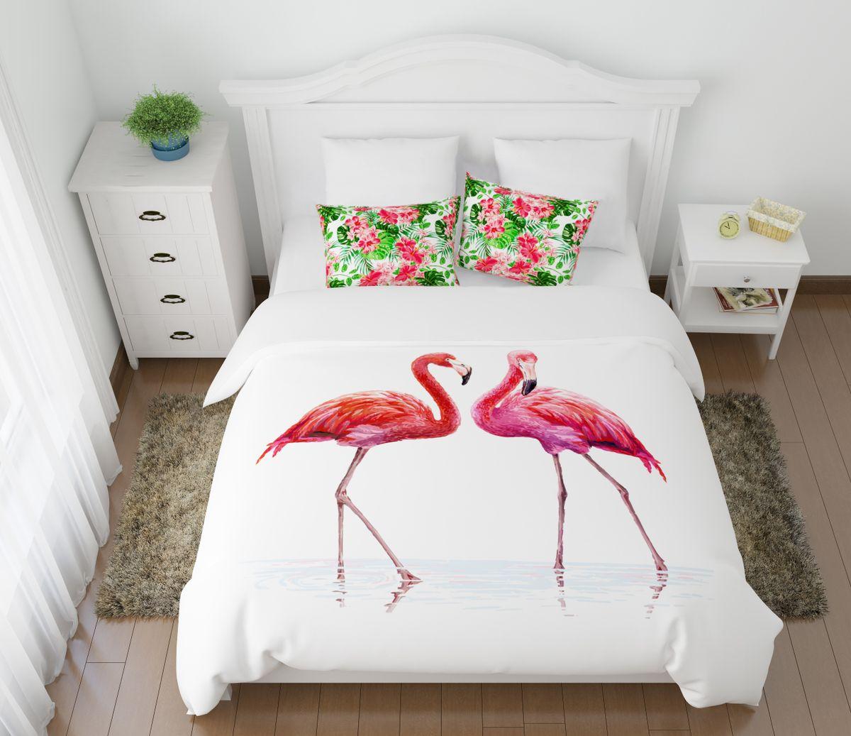 Комплект белья Сирень Фламинго, 2-спальный, наволочки 50х70ES-412Комплект постельного белья Сирень выполнен из прочной и мягкой ткани. Четкий и стильный рисунок в сочетании с насыщенными красками делают комплект постельного белья неповторимой изюминкой любого интерьера.Постельное белье идеально подойдет для подарка. Идеальное соотношение смешенной ткани и гипоаллергенных красок - это гарантия здорового, спокойного сна. Ткань хорошо впитывает влагу, надолго сохраняет яркость красок.В комплект входят: простынь, пододеяльник, две наволочки. Постельное белье легко стирать при 30-40°С, гладить при 150°С, не отбеливать. Рекомендуется перед первым использованием постирать.УВАЖАЕМЫЕ КЛИЕНТЫ! Обращаем ваше внимание, что цвет простыни, пододеяльника, наволочки в комплектации может немного отличаться от представленного на фото.