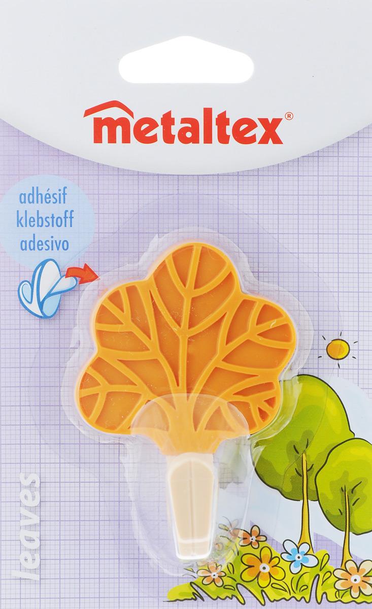 Крючок настенный Metaltex Leaves. Лист, цвет: оранжевый, 5,5 х 8 х 4 см391602Настенный крючок Metaltex Leaves. Лист изготовлен из высококачественного цветного пластика в виде листа. Он прекрасно подойдет для вашей ванной комнаты или кухни и не займет много места, надежно выдержав все, что вы на него повесите. Крючок крепится на стену с помощью липкой ленты, которая находится на задней стороне крючка или при помощи шурупа (входит в комплект). Он приклеивается к гладкой, ровной и чистой поверхности. На него можно вешать полотенца или любые другие вещи.