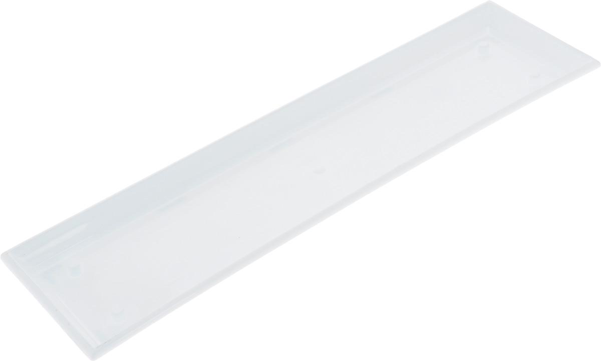 Поддон для балконного ящика Santino, цвет: белый, длина 55 см531-304Поддон для балконного ящика Santino выполнен из прочного цветного пластика. Изделие предназначено для стока воды.