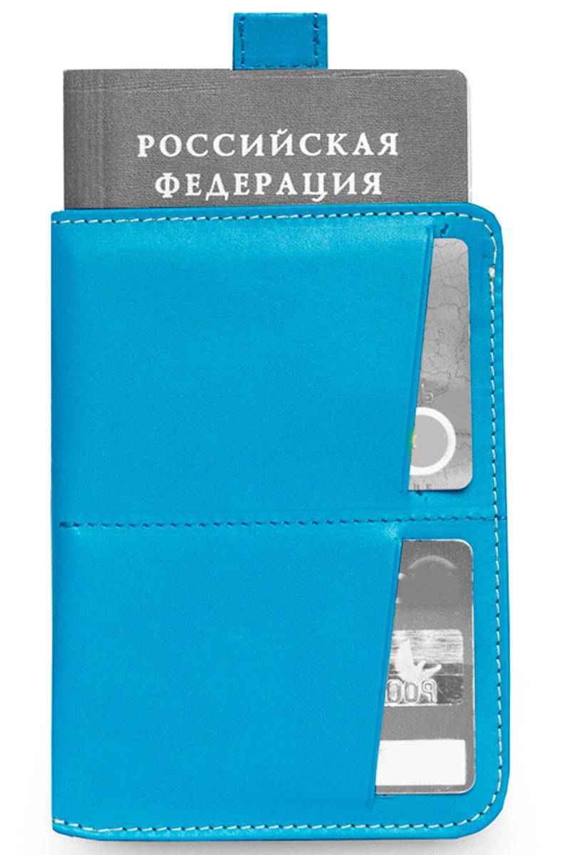 Обложка для паспорта Zavtra, цвет: голубой. zav03seaKW064-000279Обложка для документов Zavtra — это лучшее средство от бюрократической скуки.В нее может войти все необходимое и сразу — паспорт, права, пластиковые карты и даже купюры или, например, посадочный талон. Паспорт эффектно извлекается при помощи специального язычка — пользоваться ей одно удовольствие. В обложке предусмотрен основной отсек для паспорта, два отсека под пластиковые карты и обратный глубокий карман свободного назначения.