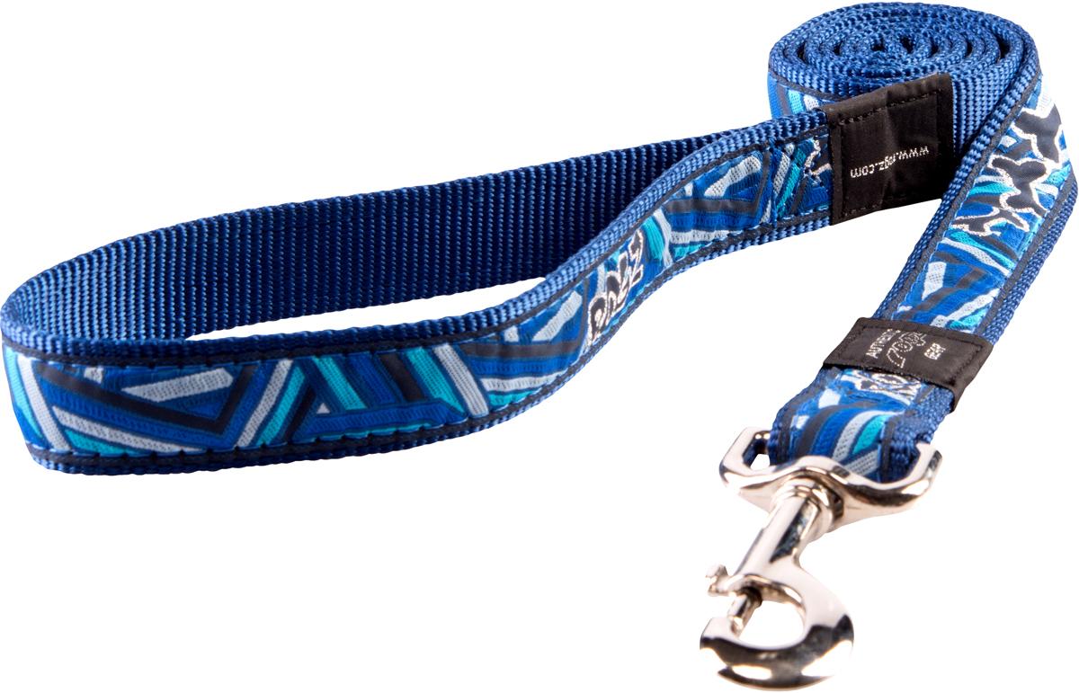 Поводок для собак Rogz Fancy Dress, цвет: синий, ширина 2,5 смHL02CCПоводок для собак Rogz Fancy Dress с потрясающе красивым орнаментом на прочной тесьме поверх нейлоновой ленты украсит вашего питомца.Необыкновенно крепкий и прочный поводок.Выполненные по заказу литые кольца выдерживают значительные физические нагрузки и имеют хромирование, нанесенное гальваническим способом, что позволяет избежать коррозии и потускнения изделия.Длина (с карабином): 120 см.
