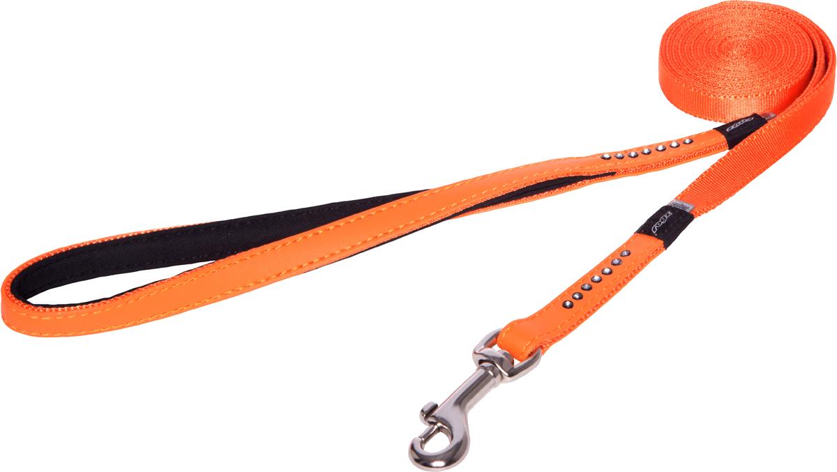 Поводок для собак Rogz Luna, удлиненный, цвет: оранжевый, ширина 1,3 см. Размер S0120710Прочность и гибкость.Авторский дизайн, яркие цвета, изысканные декоративные элементы.Материалы: 100% полиэстер, PU кожа (на основе полиуретана),металл, пластик, стразы. Полотно:100% полиэстер, PU кожа (на основе полиуретана), металл, пластик, стразы