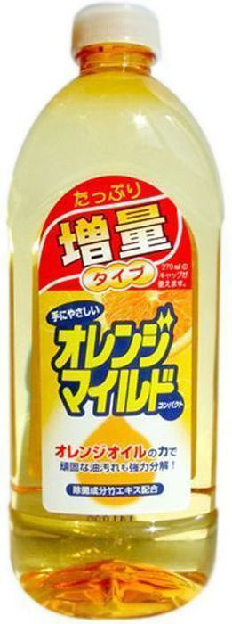 Концентрированное средство Mitsuei, для мытья посуды, овощей и фруктов, с ароматом апельсина, 450 млGC204/30Высокая концентрация компонентов делает это средство невероятно экономичным. Образует большое количество пены, которая расщепляет любые загрязнения. Растительные компоненты в составе ухаживают за кожей ваших рук. Средство без остатка смывается водой, что делает его абсолютно безопасным. Подходит для мытья овощей и фруктов.
