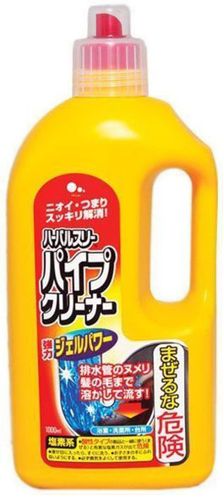 Очиститель для труб Mitsuei, 1 л391602Густой концентрированный гель быстро проникает глубоко в трубу даже сквозь стоячую воду и пробивает засоры, а мощная гелевая сила растворяет даже волосы и слизь на стенках труб. Средство уничтожает все микробы и устраняет неприятные запахи, а также уменьшает образование отложений на стенках труб.